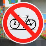 No Cycling Royalty Free Stock Photos