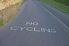 No cycling Stock Photo