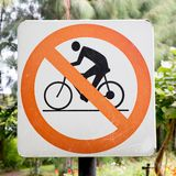 No cycling Stock Image