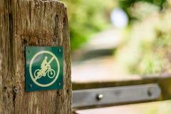 No Cycling Royalty Free Stock Photo