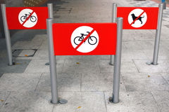 No Cycling Sign Royalty Free Stock Image