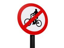 No cycling sign Stock Photo