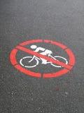 No Cycling Sign Royalty Free Stock Image