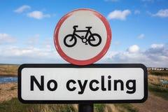 No Cycling Sign Stock Photo