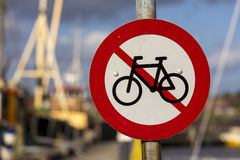 No cycling sign Royalty Free Stock Photography