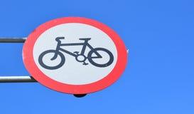 No cycling sign. Royalty Free Stock Photos