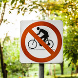 No cycling sign Stock Images