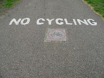 No Cycling Stock Image