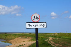 No Cycling Stock Photos