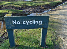 No cycling sign Stock Photography