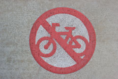No Cycling Sign Stock Photos