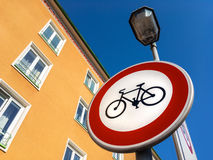 No cycling sign Royalty Free Stock Images