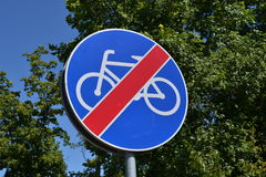 No cycling street sign Royalty Free Stock Photography