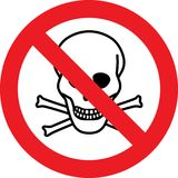 No deadly danger chemicals sign. No deadly danger chemicals allowed sign Stock Photo