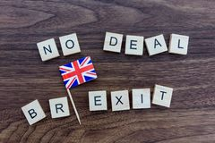 UK No Deal Brexit royalty free stock image