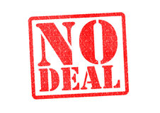 NO DEAL. Rubber Stamp over a white background Stock Image