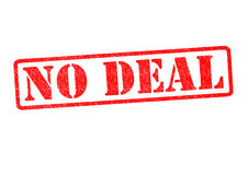 NO DEAL. Rubber Stamp over a white background Royalty Free Stock Photo