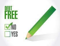 no debt free check mark sign concept vector illustration