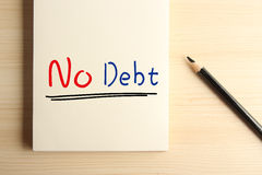 No Debt Royalty Free Stock Image