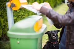 ¡No deje su faul del perro! Foto de archivo libre de regalías