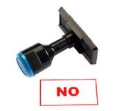 No. del sello de goma Fotografía de archivo libre de regalías