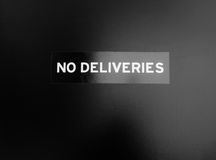 No deliveries Royalty Free Stock Images