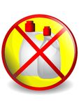 No detergents. Symbol prohibiting cleaning supplies Royalty Free Stock Photo