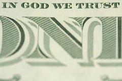 No deus nós confiamos Fotografia de Stock