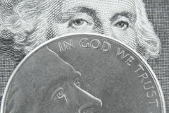 No deus nós confiamos Imagem de Stock Royalty Free