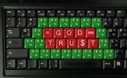 No deus nós confiamos Imagens de Stock