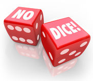No Dice Two Red Cubes Impossible Chance Bet Royalty Free Stock Photos
