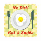 No diet - eat & smile Stock Photography