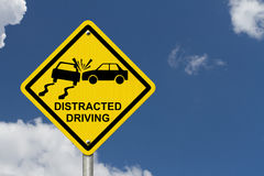 No Distracted Driving Sign Stock Photo