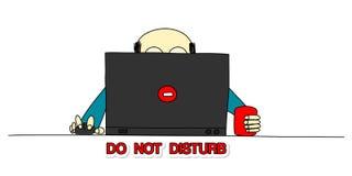 No disturbe stock de ilustración