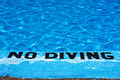 No diving Stock Photo