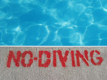 No Diving. Sign Stock Images