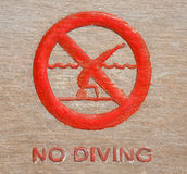 No diving Stock Image