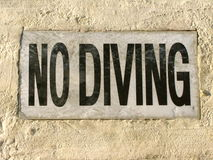 No Diving Stock Photos