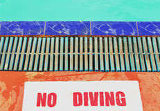 No Diving instructions Royalty Free Stock Photo
