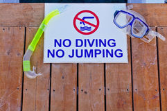 No diving No jumping Royalty Free Stock Photo