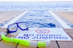 No diving No jumping Stock Photos