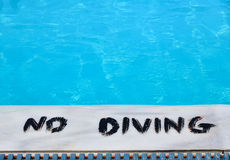 No diving in the pool Stock Photo