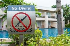 No diving Royalty Free Stock Photos