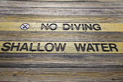 No Diving Sign Stock Image