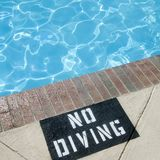 No Diving Sign Royalty Free Stock Photography