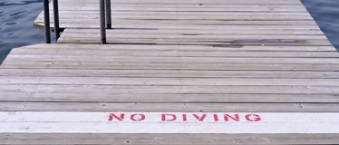 No diving sign Royalty Free Stock Image