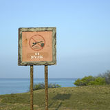 No diving sign Royalty Free Stock Photos