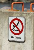 No Diving Sign Stock Photos