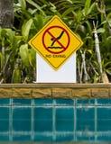 No diving Sign royalty free stock photo