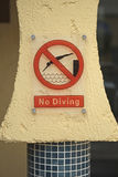 No Diving Sign Stock Images